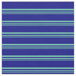 [ Thumbnail: Aquamarine and Blue Colored Pattern Fabric ]