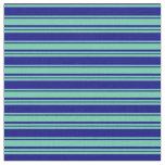 [ Thumbnail: Aquamarine and Blue Lines Fabric ]