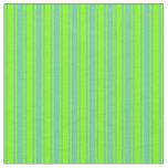 [ Thumbnail: Aquamarine and Chartreuse Colored Stripes Fabric ]