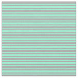 [ Thumbnail: Aquamarine and Dark Gray Lines Fabric ]