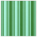 [ Thumbnail: Aquamarine and Dark Green Colored Lines Fabric ]