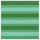 [ Thumbnail: Aquamarine and Dark Green Lines Fabric ]