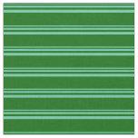 [ Thumbnail: Aquamarine and Dark Green Lines Pattern Fabric ]