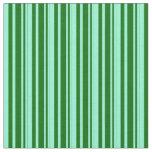 [ Thumbnail: Aquamarine and Dark Green Pattern Fabric ]