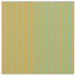 [ Thumbnail: Aquamarine and Dark Orange Colored Lines Fabric ]