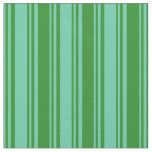 [ Thumbnail: Aquamarine and Forest Green Colored Pattern Fabric ]