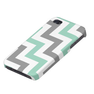 Aquamarine and Gray Geometic Pattern iPhone 4/4S Cover