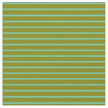 [ Thumbnail: Aquamarine and Green Colored Lines Fabric ]
