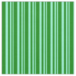[ Thumbnail: Aquamarine and Green Colored Lines Pattern Fabric ]