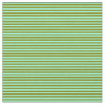 [ Thumbnail: Aquamarine and Green Striped Pattern Fabric ]