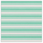 [ Thumbnail: Aquamarine and Light Cyan Colored Stripes Fabric ]