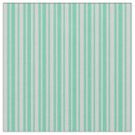 [ Thumbnail: Aquamarine and Light Grey Colored Lines Fabric ]