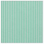 [ Thumbnail: Aquamarine and Light Grey Colored Stripes Fabric ]