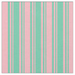 [ Thumbnail: Aquamarine and Light Pink Lines/Stripes Pattern Fabric ]