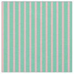 [ Thumbnail: Aquamarine and Light Pink Striped Pattern Fabric ]
