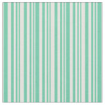 [ Thumbnail: Aquamarine and Light Yellow Colored Lined Pattern Fabric ]