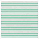 [ Thumbnail: Aquamarine and Light Yellow Stripes Pattern Fabric ]