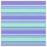 [ Thumbnail: Aquamarine and Medium Slate Blue Colored Pattern Fabric ]