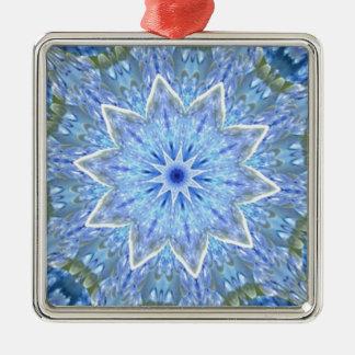 Aquamarine and Peridot Daydream Kaleidoscope Metal Ornament