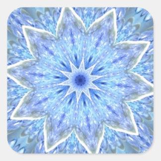 Aquamarine and Peridot Daydream Kaleidoscope Square Stickers