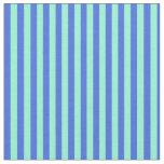 [ Thumbnail: Aquamarine and Royal Blue Colored Pattern Fabric ]