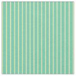 [ Thumbnail: Aquamarine and Tan Stripes Fabric ]