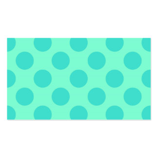 Aquamarine and Turquoise Polka Dots Double-Sided Standard Business Cards (Pack Of 100)