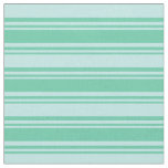 [ Thumbnail: Aquamarine and Turquoise Stripes Pattern Fabric ]