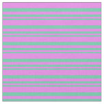 [ Thumbnail: Aquamarine and Violet Colored Lines Pattern Fabric ]