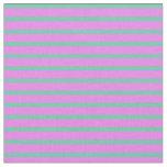 [ Thumbnail: Aquamarine and Violet Colored Stripes Fabric ]
