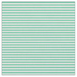 [ Thumbnail: Aquamarine and White Lined/Striped Pattern Fabric ]