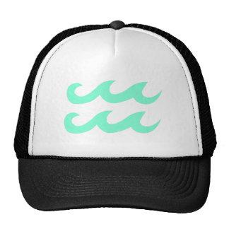 Aquamarine Aquarius Zodiac Symbol Trucker Hat