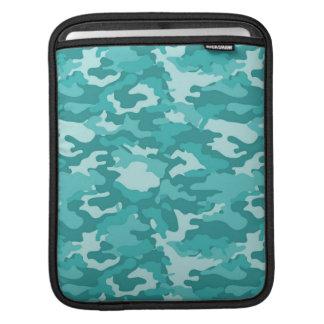 Aquamarine Army Military Camo Camouflage Pattern iPad Sleeve