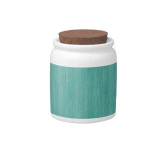 Aquamarine Bamboo Look Candy Dishes