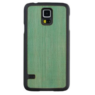 Aquamarine Bamboo Wood Grain Look Carved® Maple Galaxy S5 Slim Case