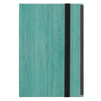 Aquamarine Bamboo Wood Grain Look Case For iPad Mini
