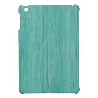 Aquamarine Bamboo Wood Grain Look Case For The iPad Mini