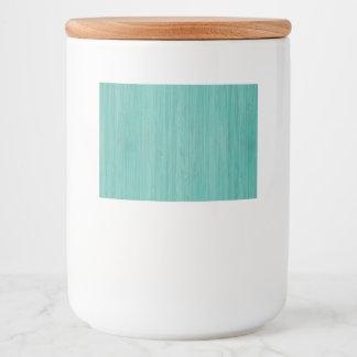 Aquamarine Bamboo Wood Grain Look Food Label