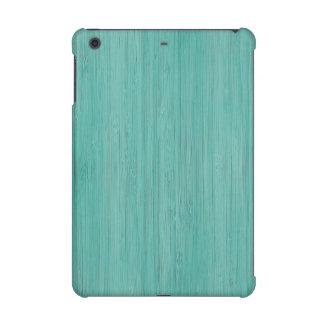 Aquamarine Bamboo Wood Grain Look iPad Mini Retina Case