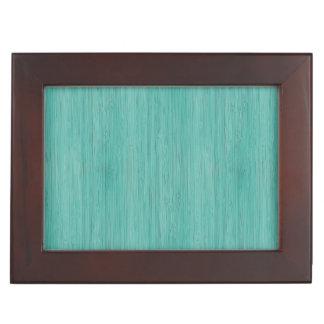 Aquamarine Bamboo Wood Grain Look Memory Box