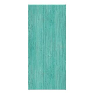 Aquamarine Bamboo Wood Grain Look Rack Card