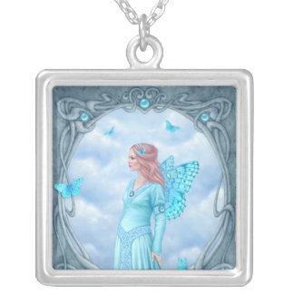 Aquamarine Birthstone Fairy Necklace