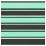 [ Thumbnail: Aquamarine & Black Colored Lines Fabric ]