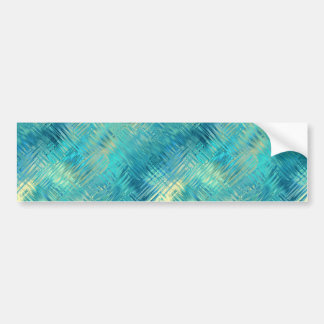 Aquamarine Blue Crystal Gel Texture Bumper Sticker