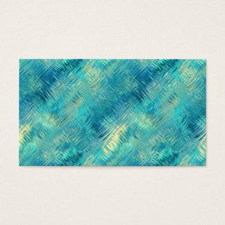 Aquamarine Blue Crystal Gel Texture Business Card