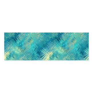 Aquamarine Blue Crystal Gel Texture Double-Sided Mini Business Cards (Pack Of 20)