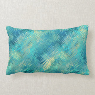 Aquamarine Blue Crystal Gel Texture Lumbar Pillow