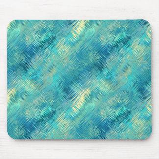 Aquamarine Blue Crystal Gel Texture Mouse Pad