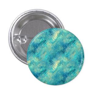 Aquamarine Blue Crystal Gel Texture Pinback Button