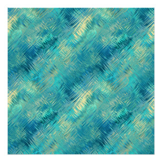 Aquamarine Blue Crystal Gel Texture Poster